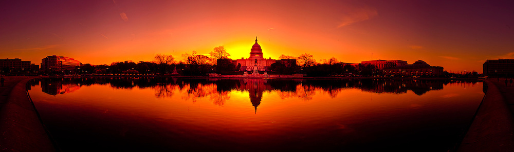 The United States Capitol at sunrise