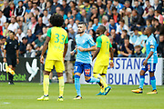 Remy Cabella (Olympique de Marseille), Jules ILOKI (FC Nantes), Samuel MOUTOUSSAMY (FC Nantes) during the French championship L1 football match between Rennes v Lyon, on August 11, 2017 at Roazhon Park stadium in Rennes, France - Photo Stephane Allaman / ProSportsImages / DPPI
