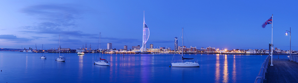 Portsmouth panoramic city skyline
