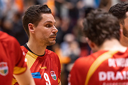 14-04-2019 NED: Achterhoek Orion - Draisma Dynamo, Doetinchem<br /> Orion win the fourth set and play the final round against Lycurgus. Dynamo won 2-3 / Renzo Verschuren #9 of Dynamo