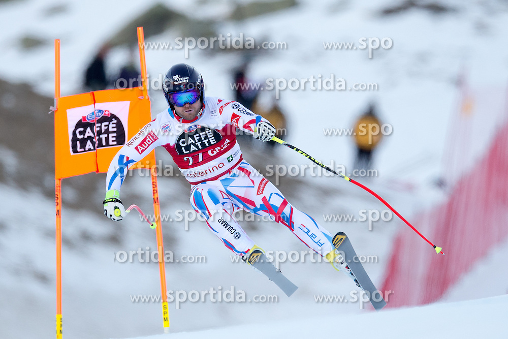 28.12.2015, Deborah Compagnoni Rennstrecke, Santa Caterina, ITA, FIS Ski Weltcup, Santa Caterina, Abfahrt, Herren, 2. Training, im Bild David Poisson (FRA) // David Poisson of France in action during the 2nd practice run of men's Downhill of the Santa Caterina FIS Ski Alpine World Cup at the Deborah Compagnoni Course in Santa Caterina, Italy on 2015/12/28. EXPA Pictures © 2015, PhotoCredit: EXPA/ Johann Groder