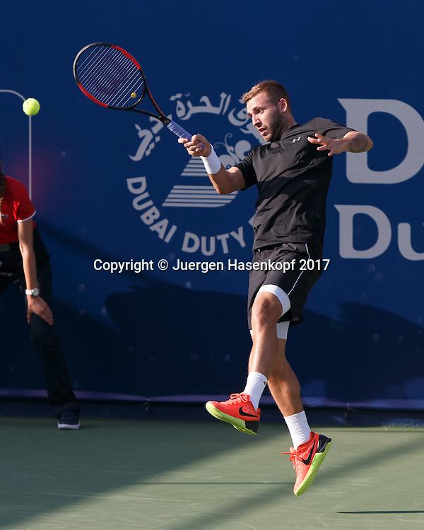 DANIEL EVANS (GBR)<br /> <br /> Tennis - Dubai Duty Free Tennis Championships - ATP -  Dubai Duty Free Tennis Stadium - Dubai -  - United Arab Emirates  - 28 February 2017. <br /> &copy; Juergen Hasenkopf