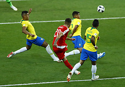 June 27, 2018 - Moscow, Russia - Group E Serbia v Brazil - FIFA World Cup Russia 2018.Sergej Milinkovic-Savic (Serbia) shooting at Spartak Stadium in Moscow, Russia on June 27, 2018. (Credit Image: © Matteo Ciambelli/NurPhoto via ZUMA Press)