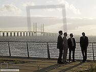 Öresundbridge, Businessmen, Sweden, Skane, Oeresund
