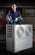 Heatpump designer Shaolin, photographed for Aquafire systems.