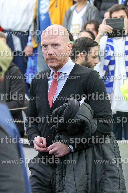 15.04.2015, Estadio do Dragao, Porto, POR, UEFA CL, FC Porto vs FC Bayern Muenchen, Viertelfinale, Hinspiel, im Bild Vorstand Matthias Sammer (FC Bayern Muenchen) schaut ernst // during the UEFA Champions League quarter finals 1st Leg match between FC Porto vs FC Bayern Muenchen at the Estadio do Dragao in Porto, Portugal on 2015/04/15. EXPA Pictures &copy; 2015, PhotoCredit: EXPA/ Eibner-Pressefoto/ Kolbert<br /> <br /> *****ATTENTION - OUT of GER*****