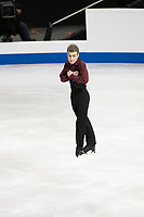 KELOWNA, BC - OCTOBER 26: Italian figure skater Matteo Rizzo competes during the men's long program / free skate of Skate Canada International held at Prospera Place on October 26, 2019 in Kelowna, Canada. (Photo by Marissa Baecker/Shoot the Breeze)