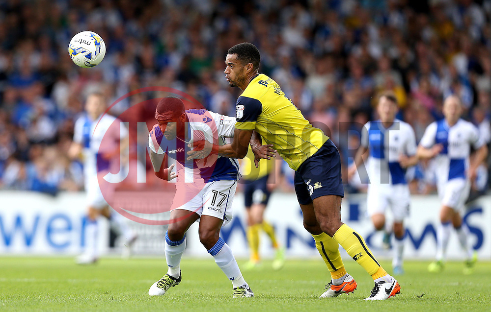 Jermaine Easter of Bristol Rovers battles for possession with Curtis Nelson of Oxford United - Mandatory by-line: Robbie Stephenson/JMP - 14/08/2016 - FOOTBALL - Memorial Stadium - Bristol, England - Bristol Rovers v Oxford United - Sky Bet League One