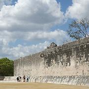 Ball game courtyard detail at Chichen Itza. Yucatan, Mexico.