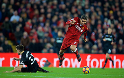 LIVERPOOL, ENGLAND - Boxing Day, Tuesday, December 26, 2017: Liverpool's Roberto Firmino during the FA Premier League match between Liverpool and Swansea City at Anfield. (Pic by David Rawcliffe/Propaganda)