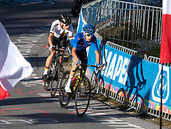 27.09.2018, Innsbruck, AUT, UCI Straßenrad WM 2018, Straßenrennen, Junioren, von Kufstein nach Innsbruck (138,4 km), im Bild v.l. Marius Mayrhofer (GER, 2. Platz Silbermedaille), Andrea Piccolo (ITA) // f.l. Marius Mayrhofer silver medalist of Germany Andrea Piccolo of Italy during the road race of the Junior Men from Kufstein to Innsbruck (138,4 km) of the UCI Road World Championships 2018. Innsbruck, Austria on 2018/09/27. EXPA Pictures © 2018, PhotoCredit: EXPA/ Reinhard Eisenbauer