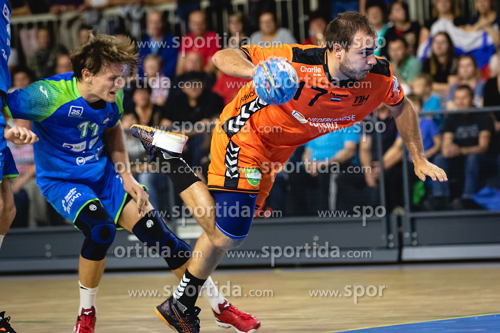 Ivo Steins of Nederland during friendly handball match between Slovenia and Nederland, on October 25, 2019 in Športna dvorana Hardek, Ormož, Slovenia. Photo by Blaž Weindorfer / Sportida