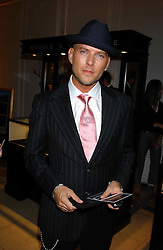 1980's pop star MATT GOSS at a evening to celebrate the unveiling of the British Luxury Club at The Orangery, Kensington Palace, London W8 on 16th September 2004.<br /><br />NON EXCLUSIVE - WORLD RIGHTS