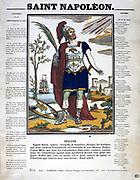 Saint Napoleon: Popular French print glorifying Napoleon I's  (1769-1821) military exploits.