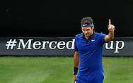 Roger Federer during the Mercedes Cup at Tennisclub Weissenhof, Stuttgart<br /> Picture by EXPA Pictures/Focus Images Ltd 07814482222<br /> 08/06/2016<br /> *** UK &amp; IRELAND ONLY ***<br /> EXPA-EIB-160608-0091.jpg