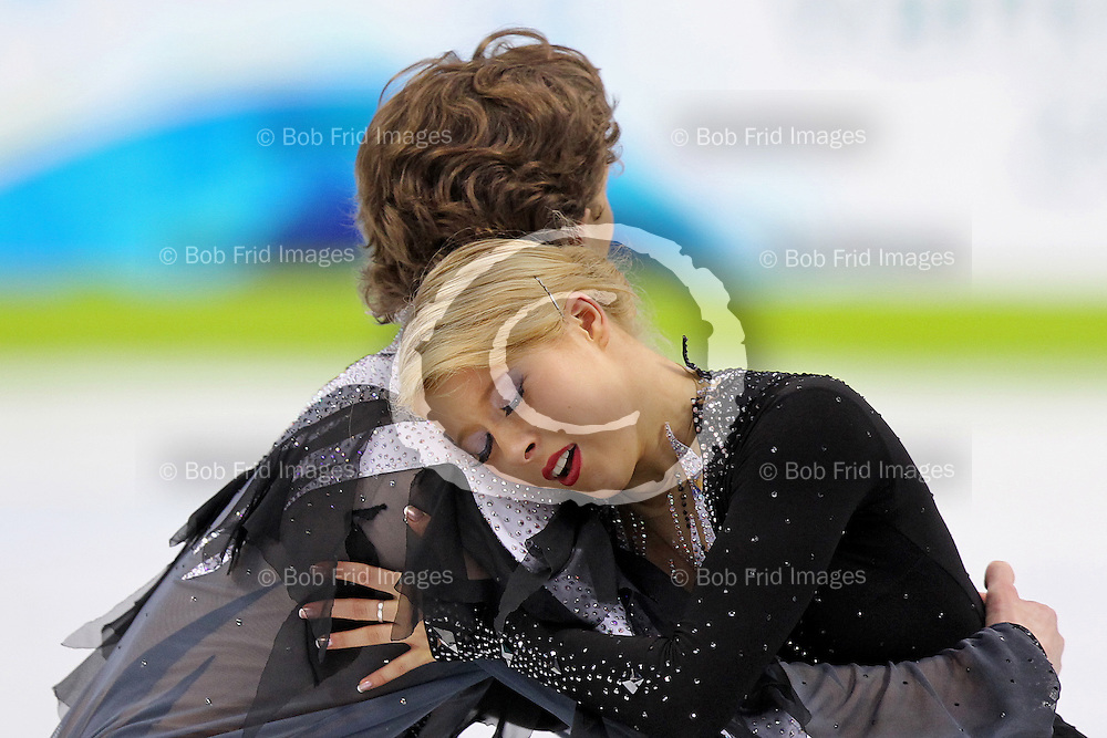 22 February 2010:  Russia's Ekaterina Bobrova and Dmitri Soloviev during the figure skating ice dance  Free Skate program held at the Pacific Coliseum during the Vancouver 2010 Winter Olympics  in Vancouver,  British Columbia, Canada..