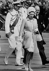 04/04/1970. Queen Elizabeth II and the Duke of Edinburgh arrive in Sydney, Australia, during the royal tour of Australasia. The Royal couple will celebrate their platinum wedding anniversary on November 20.