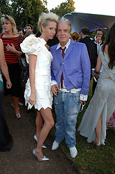 The HON.SOPHIA HESKETH and NICKY HASLAM at the annual Serpentine Gallery Summer Party in association with Swarovski held at the gallery, Kensington Gardens, London on 11th July 2007.<br /><br />NON EXCLUSIVE - WORLD RIGHTS