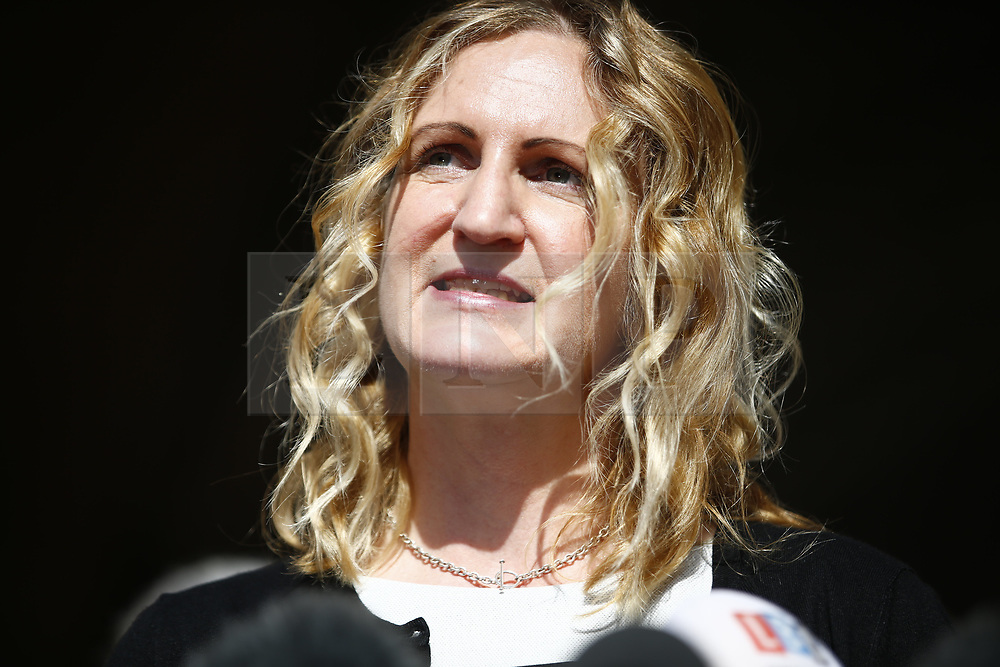 © Licensed to London News Pictures.15/03/2017.London, UK.   CLAIRE BLACKMAN, wife of Sergeant Alexander Blackman, leaves the Royal Courts of Justice in London, where a ruling was made in an appeal against the conviction of Sgt Blackman.  Also known as Marine A, Sgt Blackman is appealing a life sentence for the murder of a wounded Taliban fighter in Afghanistan in 2011.Photo credit: Tolga Akmen/LNP