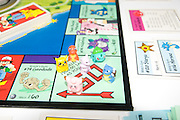 A Pokemon version of the classic Monopoly board game special Pokemon game pieces on the Go