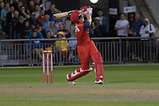 Liam Livingstone batting during the Vitality T20 Blast North Group match between Lancashire Lightning and Leicestershire Foxes at the Emirates, Old Trafford, Manchester, United Kingdom on 30 August 2019.