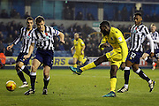 Bristol Rovers midfielder Hiram Boateng (34) with a shot during the EFL Sky Bet League 1 match between Millwall and Bristol Rovers at The Den, London, England on 12 November 2016. Photo by Matthew Redman.