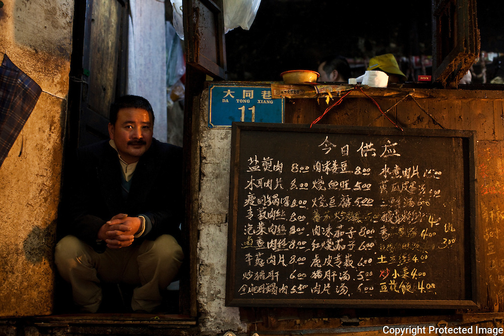 Man at a restaurant in Chongqing