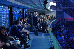 On the balcony of the the Presidential Suite at the Opening Ceremony of the 2014 Sochi Winter Paralympic Games, Sochi, Russia