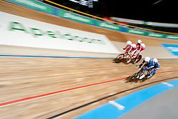 DEBEAUPUITS Damien, DHINNIN Mickael, WEGNER Przemyslaw Pilot:  KORC Artur, FRA, POL, Tandem 4km Pursuit Qualifiers , 2015 UCI Para-Cycling Track World Championships, Apeldoorn, Netherlands
