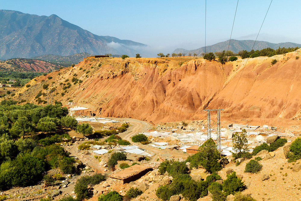 Tinzert Salt Mines in the Ouirgane region of the High Atlas Mountains, Southern Morocco, 2013-10-18.