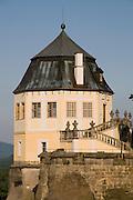 Festung Koenigstein, Friedrichsburg, Saechsische Schweiz, Elbsandsteingebirge, Sachsen, Deutschland.|.Fort Koenigstein, Friedrichsburg, Saxony, Germany