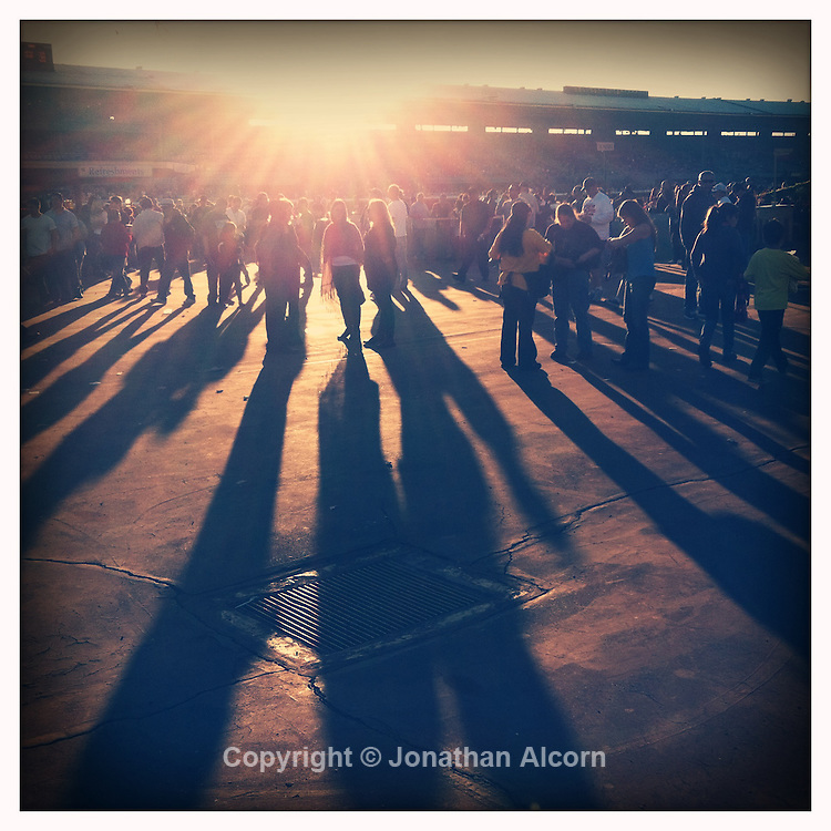 Santa Anita Park opening day in the infield on December 26, 2011