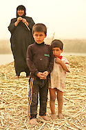 Mother with two sons in Maysan Province