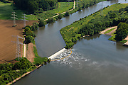 Nederland, Limburg, Gemeente Maasgouw, 27-05-2013; afvoer van koelwater Prins Clauscentrale, Maasbracht.<br /> Discharge of cooling water Prince Claus power plant.<br /> luchtfoto (toeslag op standard tarieven);<br /> aerial photo (additional fee required);<br /> copyright foto/photo Siebe Swart.