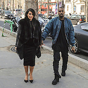 04.MARCH.2013. LONDON<br /> <br /> KIM KARDASHIAN AND KANYE WEST ARE SEEN LEAVING THE TOKYO EAT RESTAURANT AT THE PALAIS DE TOKYO IN PARIS, BEFORE HEADING BACK TO THEIR HOTEL.<br /> <br /> BYLINE: EDBIMAGEARCHIVE.CO.UK<br /> <br /> *THIS IMAGE IS STRICTLY FOR UK NEWSPAPERS AND MAGAZINES ONLY*<br /> *FOR WORLD WIDE SALES AND WEB USE PLEASE CONTACT EDBIMAGEARCHIVE - 0208 954 5968*