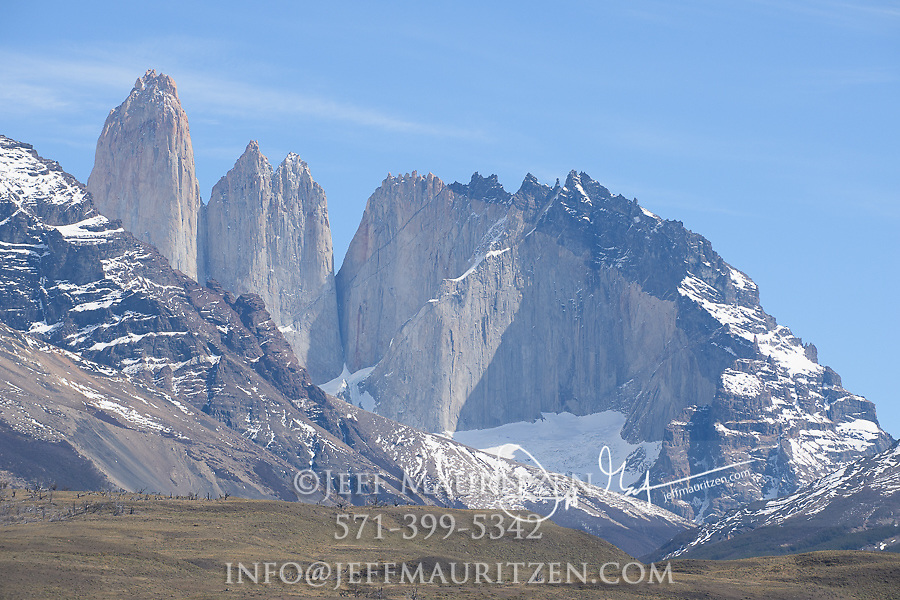 The granite peaks of Torres del Paine National Park, Chile.