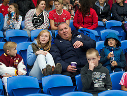 CARDIFF, WALES - Tuesday, August 21, 2014: Former Wales international Neville Southall during the FIFA Women's World Cup Canada 2015 Qualifying Group 6 match at the Cardiff City Stadium. (Pic by Ian Cook/Propaganda)