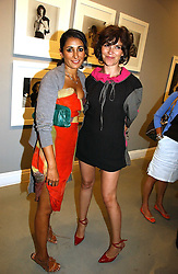 Left to right, SERENA REES and JESSICA MORRIS at an exhibition of photographs by the late Robert Mapplethorpe at the Alison Jacques Gallery, 4 Clifford Street, London W1 on 7th September 2006.<br />