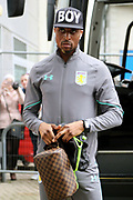 Aston Villa defender Axel Tuanzebe (28) arrives at the KCOM Stadium prior to the EFL Sky Bet Championship match between Hull City and Aston Villa at the KCOM Stadium, Kingston upon Hull, England on 31 March 2018. Picture by Mick Atkins.