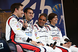 June 11, 2018 - Le Mans, FRANCE - 22 UNITED AUTOSPORT (GBR) LIGIER JSP217 GIBSON PHIL HANSON (GBR) FILIPE ALBUQUERQUE (PRT) PAUL DI RESTA (GBR) AND JUAN PABLO MONTOYA  (Credit Image: © Panoramic via ZUMA Press)