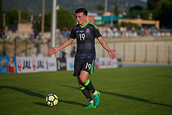 AUBAGNE, FRANCE - Tuesday, May 30, 2017: Wales' Mark Harris in action during the Toulon Tournament Group B match between Wales and France at the Stade de Lattre-de-Tassigny. (Pic by Laura Malkin/Propaganda)