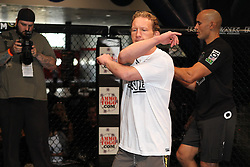 October 6, 2011; Houston, TX.; USA;  Gray Maynard works out for the media at the George R. Brown Convention Center in Houston, TX.