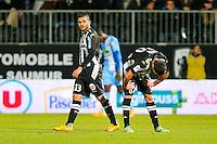 Charles DIERS / Khaled AYARI  - 26.01.2015 - Angers / Brest - 21eme journee de Ligue 2 -<br /> Photo : Vincent Michel / Icon Sport