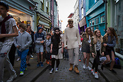 Power of Diversity. The Crossing lines project is an outdoor theatre performance set in the Creative Quarter  of Folkestone by internationally renowned PAN.OPTIKUM. Theatre company PAN.OPTIKUM have been working with local young professionals to create a unique, public performance for Folkestone. They have worked together to explore hip-hop, dance, theatre, rap and spoken word; culminating in a spectacular show that will embrace Folkestone with a focus on its history, location and people. Folkestone, Kent. 10th June 2017. ( All image use MUST be credited: © AndyAitchison.uk )