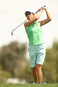 Apr. 1, 2006; Rancho Mirage, CA, USA; Candie Kung watches her tee shot on the 6th hole at the Kraft Nabisco Championships at Mission Hills Country Club. ..Mandatory Photo Credit: Darrell Miho.Copyright © 2006 Darrell Miho .