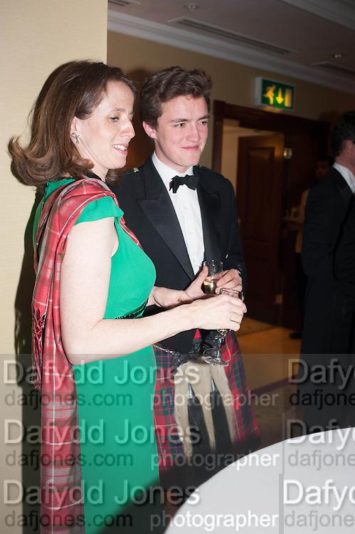 PEERDITA FRASER; SIMON FRASER, The Royal Caledonian Ball 2013. The Great Room, Grosvenor House. Park lane. London. 3 May 2013.