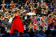 The Last Night of the BBC Proms at the Royal Albert Hall, London -  With the usual wide range of popular music including - a Mary Poppins medley, Ol Man River, the Sabre Dance, Rule Britannia, Pomp and Circumstance and Jerusalem. Performed by conductor, Sakari Oramo  (pictured), the BBC Symphony Orchestra, Chorus and Singers with soloists including Ruthie Henshall (pictured). PRESS ASSOCIATION Photo. Picture date: Saturday September 13, 2014. Photo credit should read: Guy Bell/PA Wire