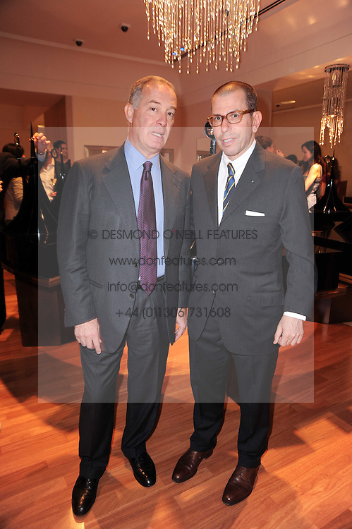 Left to right, FRANCESCO TRAPANI CEO of Bulgari and JONATHAN NEWHOUSE at a party to celebrate the B.zero 1 design by Anish Kapoor held at Bulgari, 168 New Bond Street, London n 2nd June 2010.