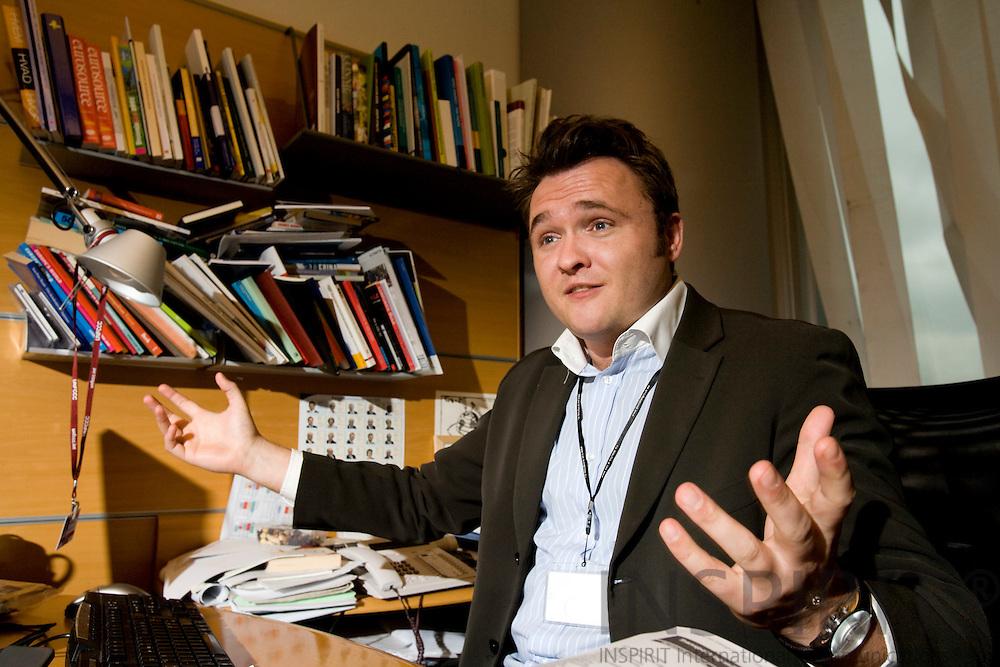 BRUSSELS - BELGIUM - 30 JANUARY 2008 -- Danish MEP Dan JØRGENSEN.       Photo: Erik Luntang/