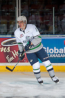 KELOWNA, CANADA - DECEMBER 7: Mathew Barzal #13 of the Seattle Thunderbirds warms up against the Kelowna Rockets on December 7, 2016 at Prospera Place in Kelowna, British Columbia, Canada.  (Photo by Marissa Baecker/Shoot the Breeze)  *** Local Caption ***